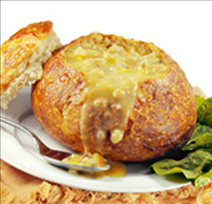 Saputo Specialty Cheese Cheddar Bacon Dip In Toasted Bread